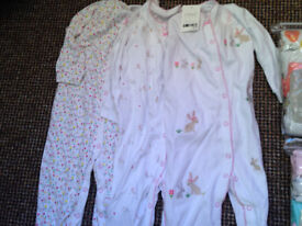 NEXT 3 PACK OF CUTE BUNNIES ALL IN ONE (babygros) 12-18months BNWT Will post out
