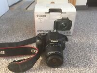 Canon 600D + 18-55mm IS Lens + 2 Spare Batteries + Free Camera Bag