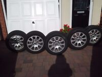 "5 x 5 17"" alloys and Tyres to fit Jaguar XJ - 03 onwards - £300 ono"