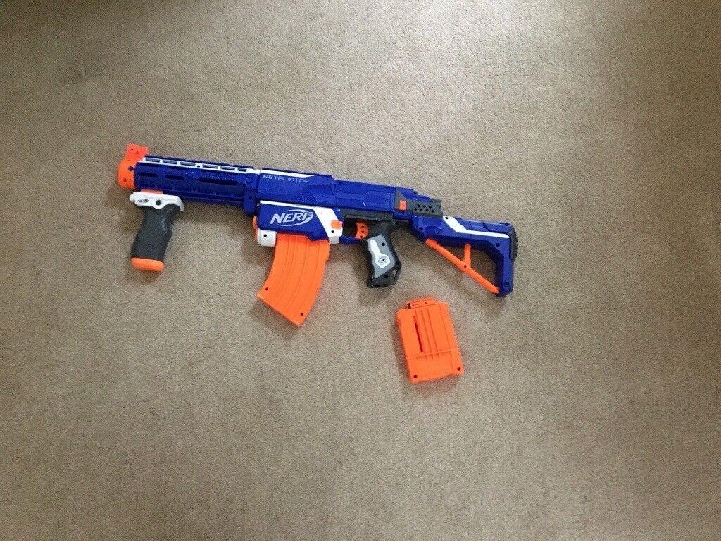 Blue Retaliator Nerf Gun