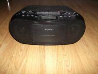 Sony portable CD/radio/tape player