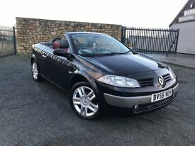 2005 55 RENAULT MEGANE CONVERTIBLE 2.0 VVT 136 COUPE - FULL LEATHER INTERIOR - CHEAP EXAMPLE!!