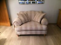 Beautiful looks as new condition, Next lounge furniture 4 seater sofa and 2 seater snuggle chair.