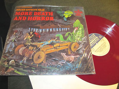 MORE DEATH AND HORROR SOUND EFFECTS LP Halloween RED wax rare '78 uk press](Halloween Sound Effects Horror)