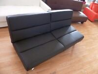New Black 3 Seater Faux Leather Sofa Bed (FREE LOCAL DELIVERY!!!)