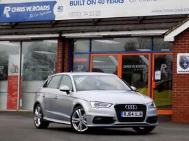 AUDI A3 2.0 TDi S LINE 5dr (150) ** Only 17000 miles and 20 RFL** (silver) 2015