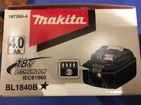 Makita 18v 4Ah battery brand new in box