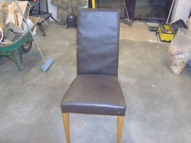 Dining chairs, 6 real leather