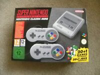 SNES- Super Nintendo Mini BRAND NEW IN BOX-REASONABLE OFFERS CONSIDERED