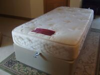 Single bed King Koil with headboard £65 also single bed settee £60 both good condition