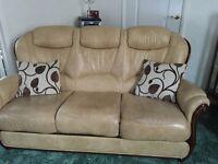 Sofa plus two armchairs