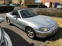 T Reg 1999 MK2 MX5 - Power Steering, electric windows, space saver spare, radio/cd,