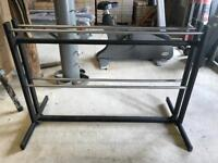2 Tier Commercial Grade Dumbbell Storage Rack - Weights Gym