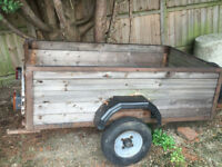 Wooden Box Trailer With Lights and Tow Bar