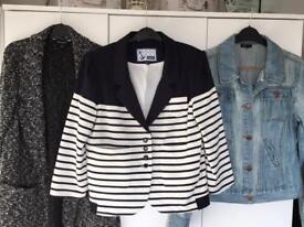 Ladies jackets bundle size 12