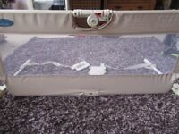 CHILDS SAFETY BED RAIL BY BABYSTART ONLY USED AT NANA'S HOUSE INCLUDES SAFETY RESTRAINTS & HANDBOOK