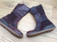 Faith mid calf brown boots