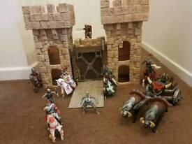 Castle set with figures.