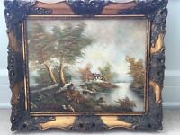 Large Signed Antique Oil Painting