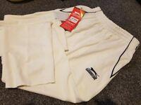 Cricket Whites - Trousers - Slazenger - 9-10yrs - never been worn