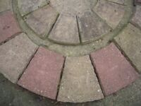 Decorative paving circle and other paving