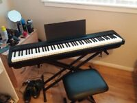 Digital Piano (Comes with Stand, Stool, Sustain Pedal and Headphones)