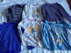6 girls long sleeved t-shirts age 5-6 for sale
