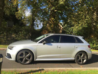 Audi 2.0tdi s tronic sport fastback 2014 only 15000miles Silver Full RS3 black edition conversion