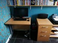 Beach affect desk and draw unit printer table also available