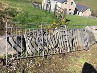 Galvanised iron gate