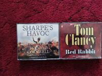REDUCED - AUDIO BOOKS BY BERNARD CORNWELL & TOM CLANCY