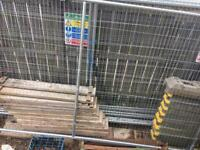 X8 Site Fencing 11ft x 8ft With Feet