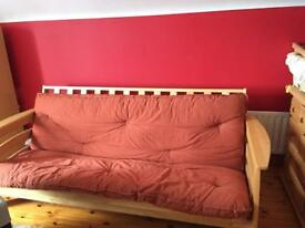 Pine sofa bed