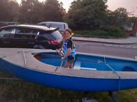 boat ... trailer and eagle outboard