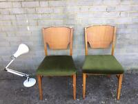 SOLID TEAK WOOD ENGLISH CHAIRS FREE DELIVERY 🇬🇧PAIR DESK/bedroom chairs table