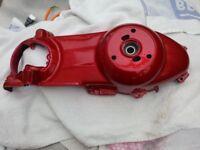 vespa gts/gtv engine casing candy apple red