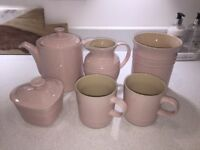 Le Creuset Pink Stoneware Kitchen Set