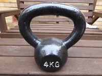 4kg Bodymax Kettlebell Cast Iron