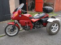 bmw k75 750cc trike with top box and panniers 1991