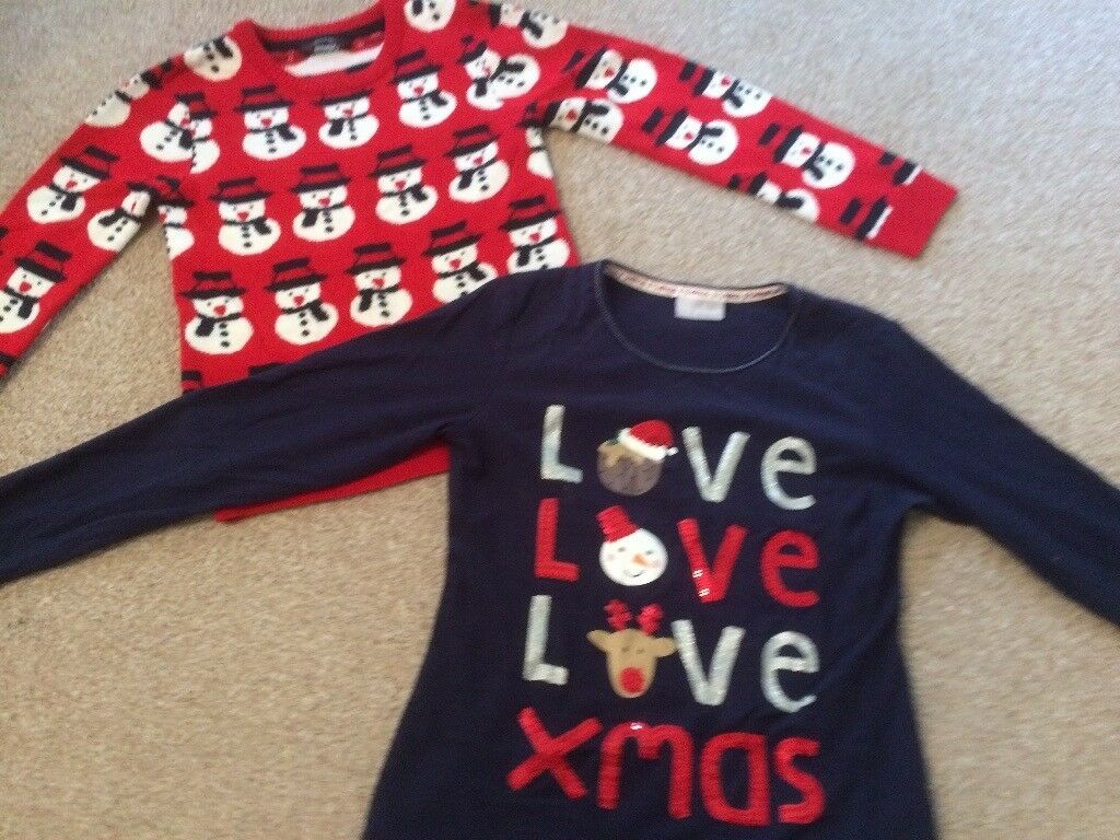 Age 8-10 Christmas tops *Can deliver*