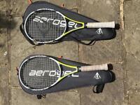 Dunlop 500 tour tennis rackets.