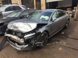 Audi A7 3.0 TDI S line Sportback S Tronic Quattro 5dr grey (lx7p) (14 - 15) breaking for parts