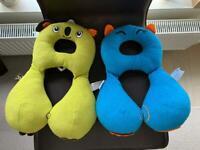 Trunki Yondi & Benbat comfy head hugger travel pillows /neck rest for small children x 2