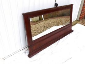 Dark Wood Mantel Mirror