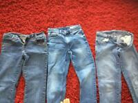 3 PAIRS OF SIZE 8/10 short length jeans. BUNDLE IN IMMACULATE CLEAN CONDITION THANKS 🙏