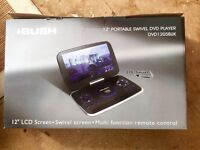 "Bush 12"" Portable Swivel DVD player, boxed, with all accessories"