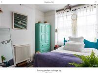 Beautiful double room to rent in seaside cottage in kemptown