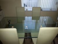 Glass table and chairs (Next)