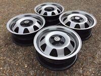ATS deep dish alloy wheels, 4x100 Vw Polo MK1 Golf MK1 etc rare 5,5J