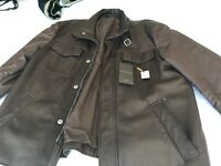 Men's Gucci leather/bomber style jacket
